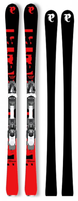 P02 Carbon Plus 155 Black/Red & Binding RX 12 Black